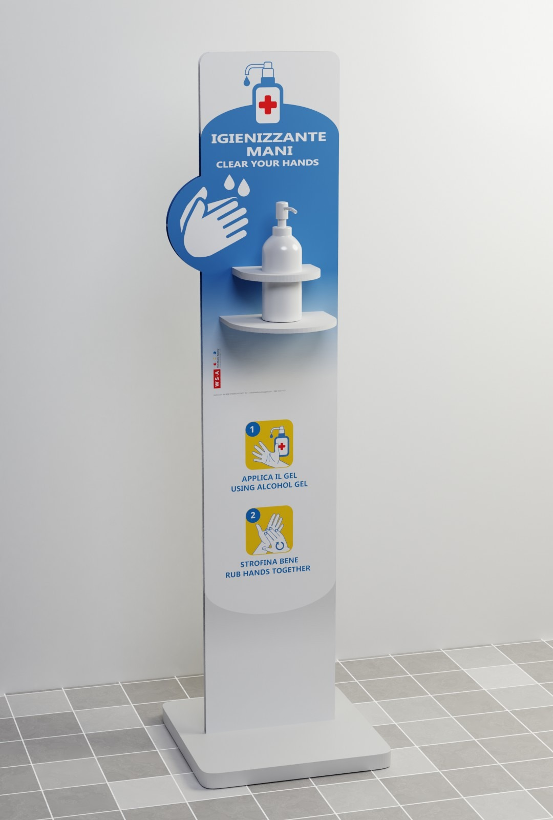 Totem dispenser per gel disinfettante